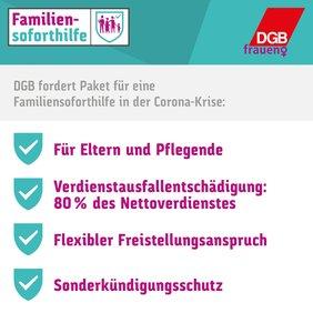 DGB-Kampagne zur Familiensoforthilfe