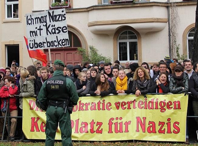 Kundgebung am Markusplatz