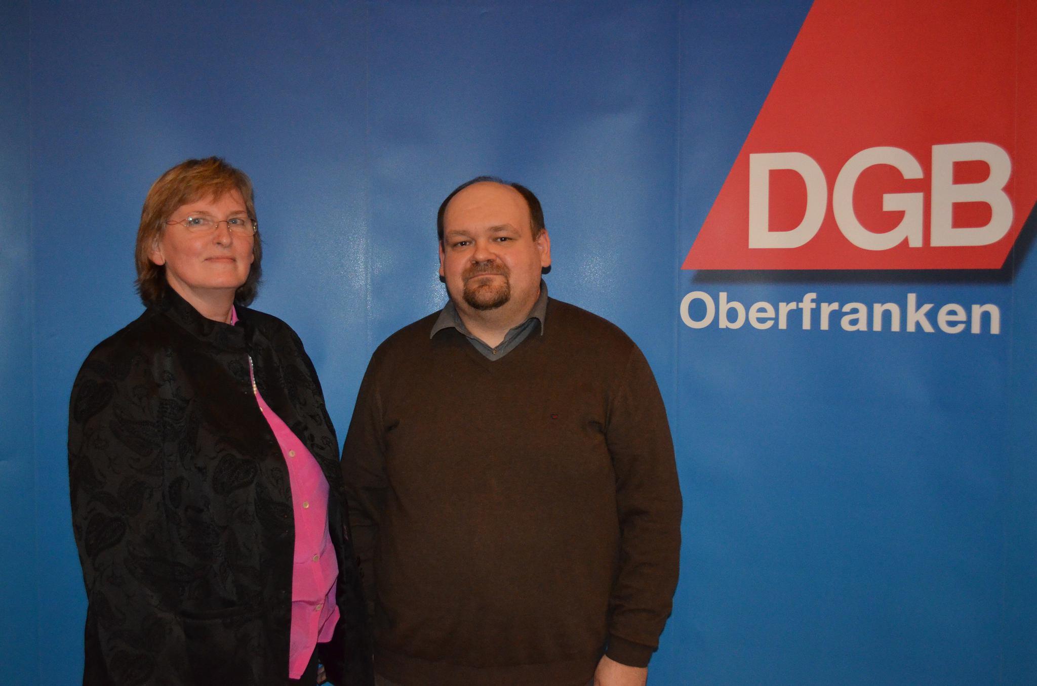 Christa Gerdes Torsten Okrent Neujahrsempfang DGB Forchheim 2019