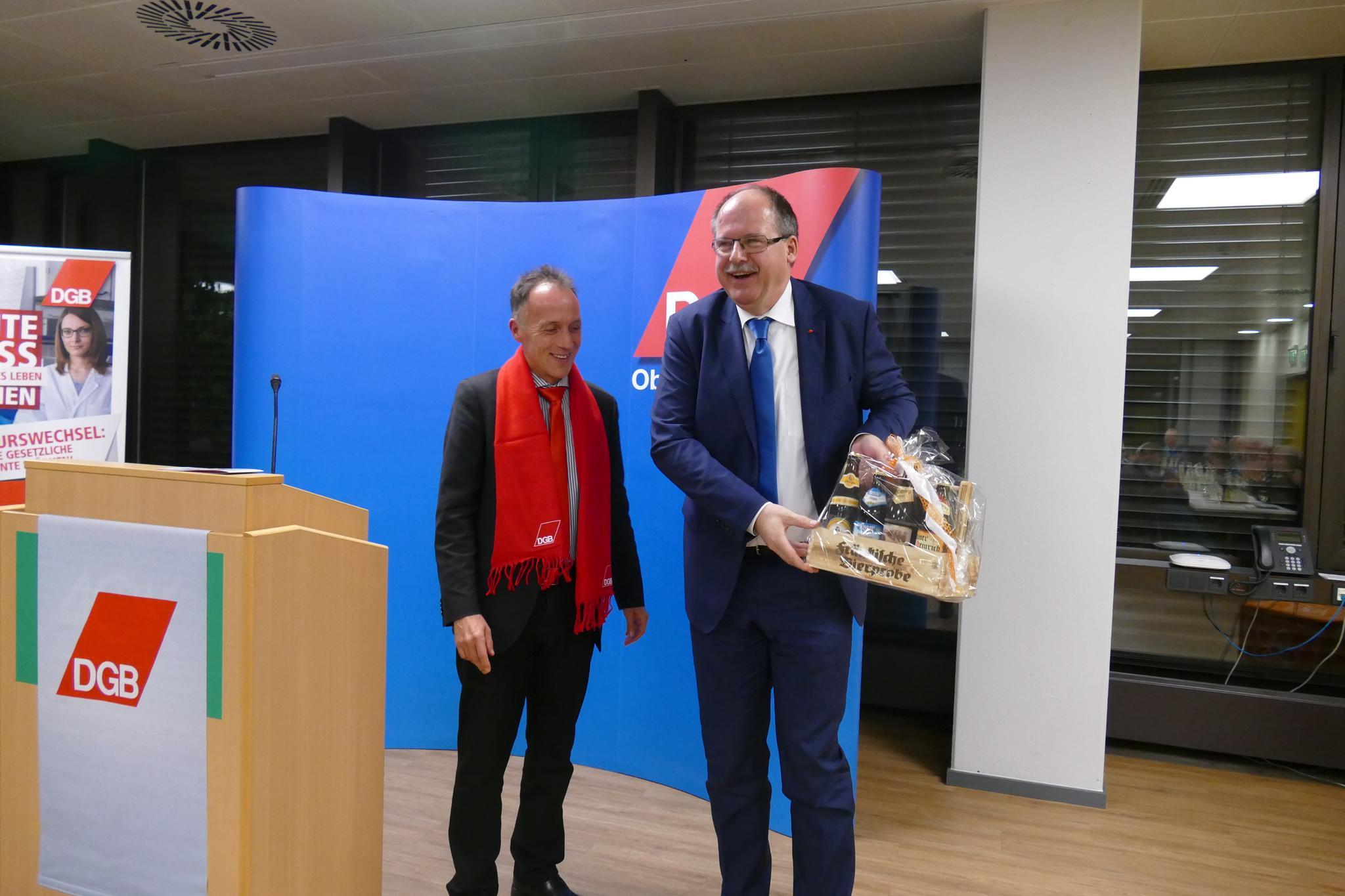 Stefan Körzell Mathias Eckardt Neujahrsempfang DGB Oberfranken 2019