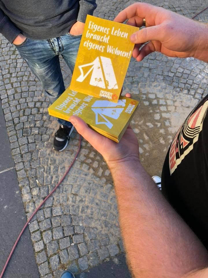 Wohnraumaktion DGB Jugend Landtagswahl 2018